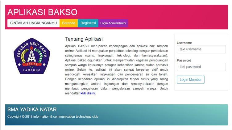 Aplikasi BAKSO Untuk Mengatur Pembuangan Sampah Warga