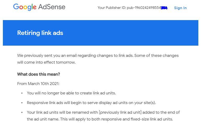 Penghasilan Adsense Turun Pasca Dideportasinya Unit Iklan Link