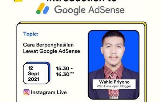 IG Live Wahid Priyono VS Sahabat Hosting: Memperoleh Penghasilan dari Google AdSense